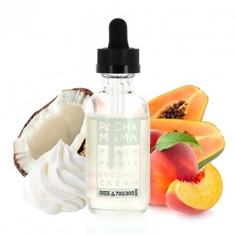 E-liquide Peach Papaya Coco 50ml par Pacha Mama