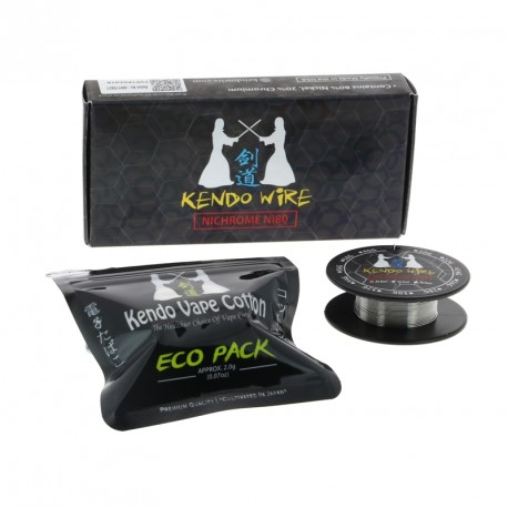 Pack Kendo Wire Ni80 par Kendo Vape Cotton