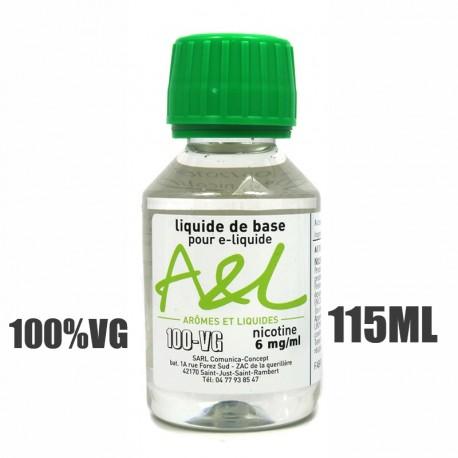 Liquide de base nicotiné 100% VG (115ml)