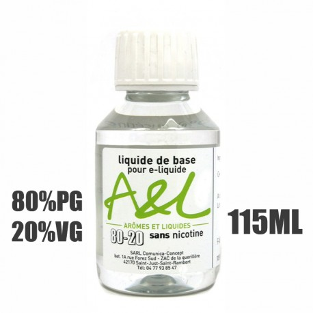Liquide de base nicotiné 80/20 (115ml)