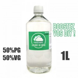 Liquide de base 50/50 19.6mg 1L par French Vape
