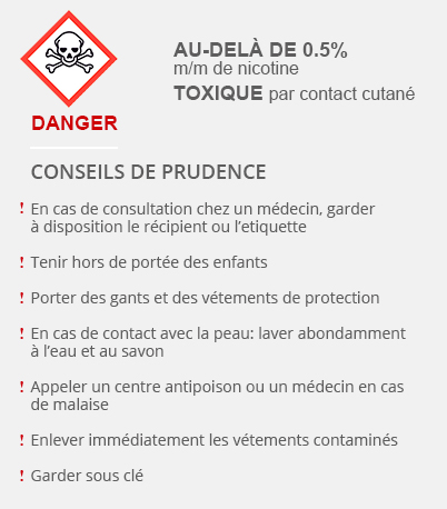 Au delà de 0.5 m/m conseil de prudence sur la nicotine