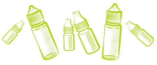 Différents formats de e-liquide