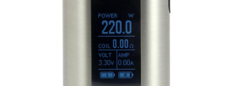 L'écran de l'Invoke 220w par Eleaf