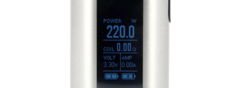 L'écran du kit Invoke 220w et Ello T par Eleaf