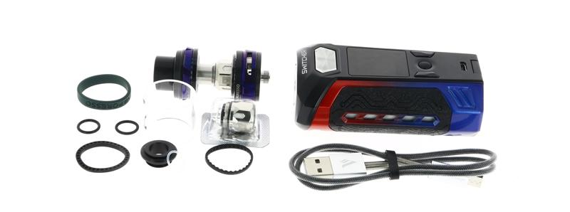Le contenu de la boîte du Kit Switcher par Vaporesso