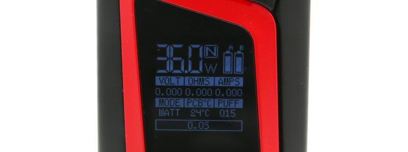 Alien 220w Smoktech écran