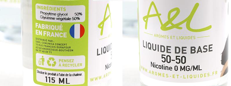 etiquetage des liquides de base