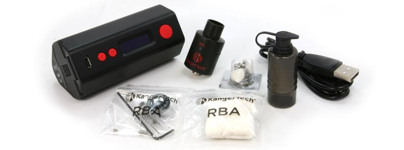 Contenu de la boite Kit Dripbox Kangertech