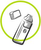 cigarette éléctronique de type pod