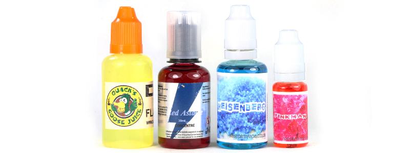 Top concentrés pour e-liquide