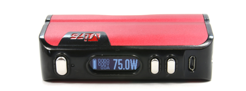 L'écran de la VT75 par HCigar