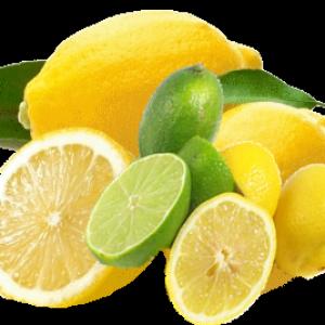 les citrons et pamplemousse