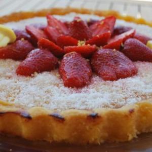 tarte noix coco fraise framboise