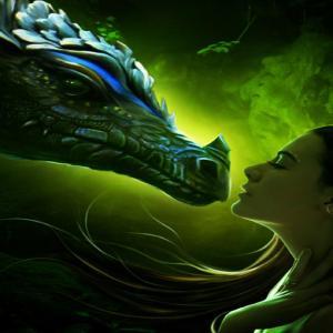 Ice green dragon
