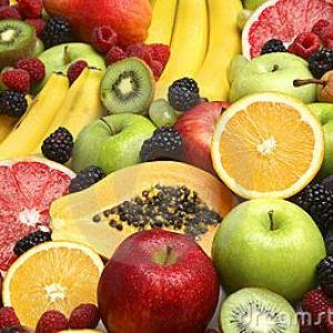 fruits frais cueillis