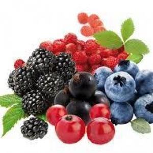 fruits rouges/menthe